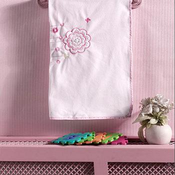 Плед флисовый «Sweet Flowers», 100% полиэстер, размер 80*120 см