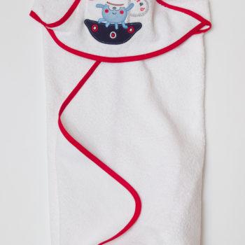 Полотенце-уголок  для новорожденных, 75х75 см
