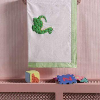 Плед хлопок/велюр серии «Baby Dinos», 75% хлопок, 25% полиэстер, размер 80*90 см