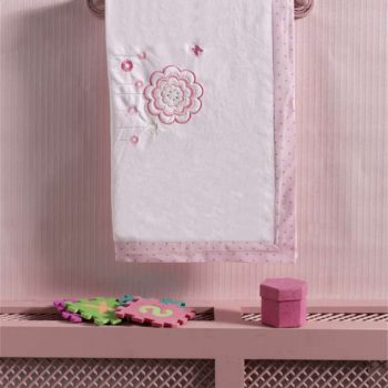 Плед хлопок/велюр серии «Sweet Flowers», 75% хлопок, 25% полиэстер, размер 80*90 см