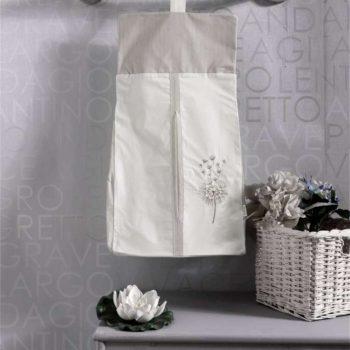 Прикроватная сумка серии «BLOSSOM SATEN VANILLA», 100% хлопок, размер 30*65