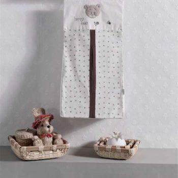 Прикроватная сумка серии «Cute Bear», 100% хлопок, размер 30*65