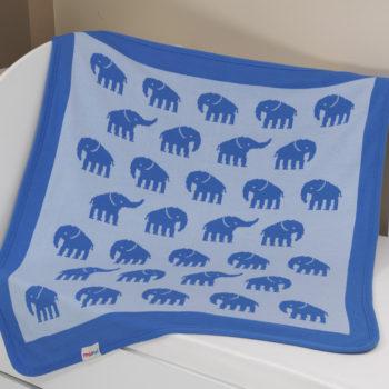 Плед-покрывало «Слоны» вязаный, 90*100 см, состав: 100% акрил