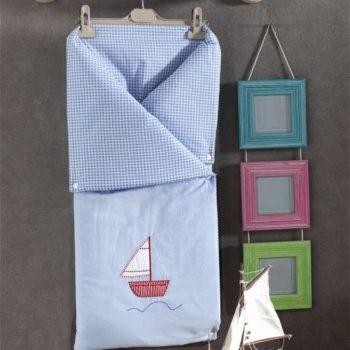 Трансформер одеяло/конверт, «BLUE MARINE» 100% хлопок/наполнение  100% полиэстер