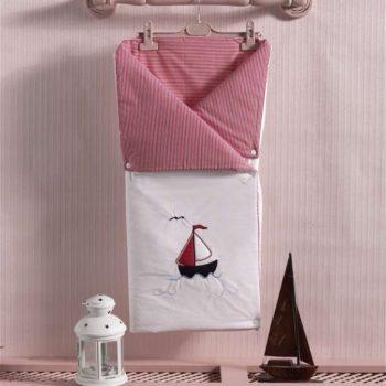 Детский постельный набор. Трансформер одеяло/конверт, «LITTLE VOYAGER» 100% хлопок/наполнение  100% полиэстер
