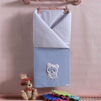 Детский постельный набор. Трансформер одеяло/конверт, «PANDA» 100% хлопок/наполнение  100% полиэстер