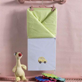 Детский постельный набор. Трансформер одеяло/конверт, «TRAFFIC JAM» 100% хлопок/наполнение  100% полиэстер