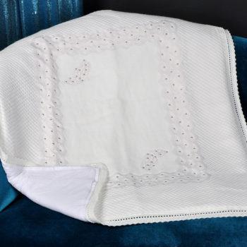 Плед-покрывало «Бабочки» вязанный , 85*100 см, состав: 100% акрил